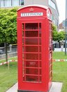 Telephone booth: Present from Newark-on-Trent, England, twin town since 1983