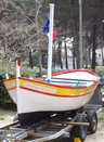 Fisher boat: Present from Six-Fours-les-Plages, France, twin town since 1978
